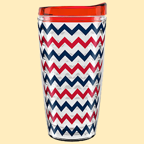 Designer Series Red Chevron